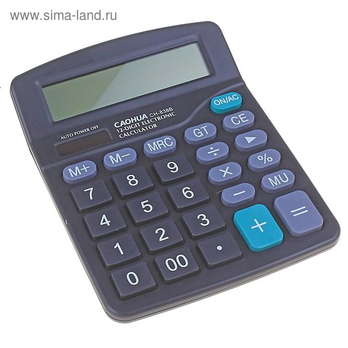 """Калькулятор настольный 12-разрядный """"Caohua"""", с двойным питанием"""