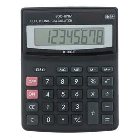 Калькулятор настольный 08-разрядный SDC-878V двойное питание Ош