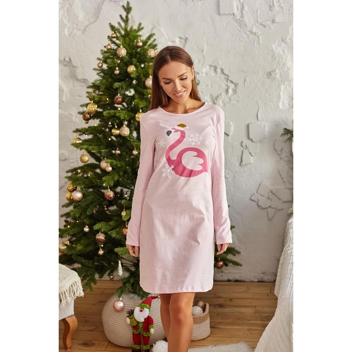 """Домашнее платье женское KAFTAN """"Santa baby"""", розовый, р. 44-46"""
