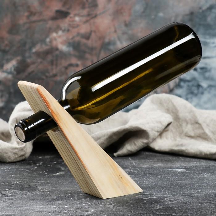 Подставка под винную бутылку, цвет светлый, сосна