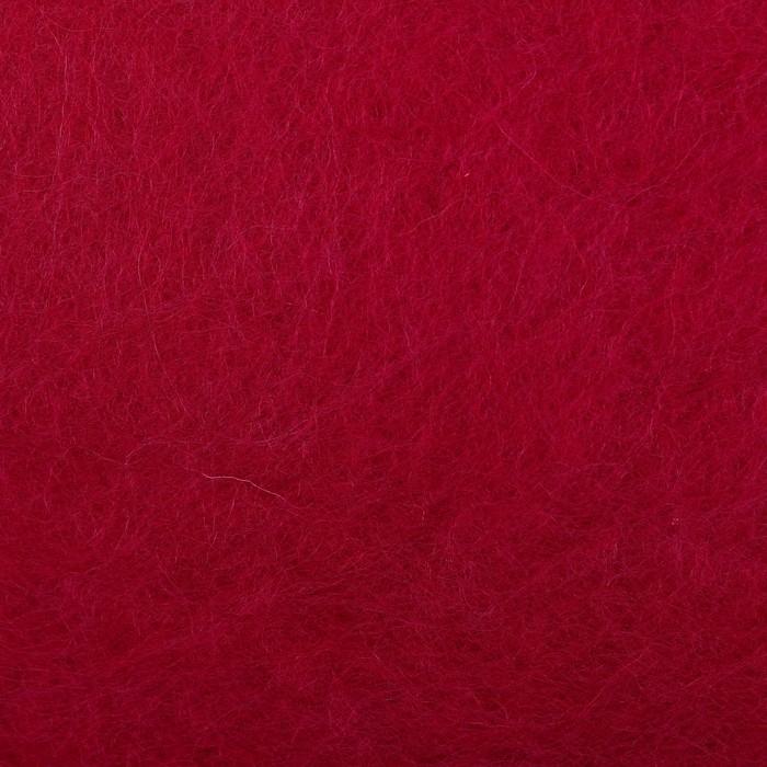 """Шерсть д/валяния """"Кардочес"""" 100% полутонкая шерсть 100гр (29 мкр, дл. 74, 1425 винный) - фото 728163461"""