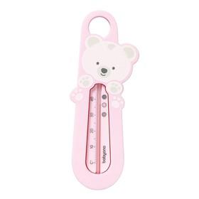 Термометр для воды Bamboo «Мишка», цвет розовый