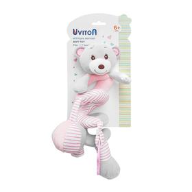Игрушка-спиралька Uviton «Мишка», цвет розовый