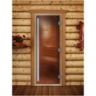 Дверь «Престиж», размер коробки 200 × 70 см, левая, цвет бронза