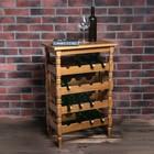 """Стеллаж винный """"Классический"""", 85х55Х32 см, на 16 бутылок, массив дуба, светлый дуб"""