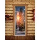 Дверь «Престиж» с фотопечатью, размер коробки 190 × 70 см, левая, цвет А093