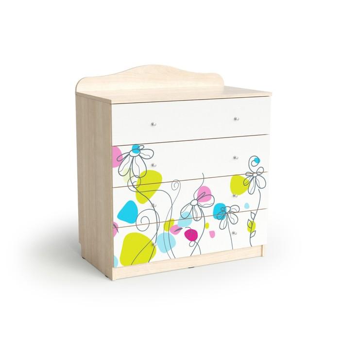 Комод с 4-мя ящиками Flowers, 800х450х910, Шимо светлый