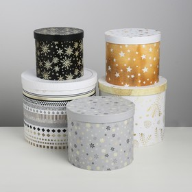 """Set of gift boxes 5 in 1 """"Frost"""", 13 × 14-19.5 × 22 cm 3580137"""