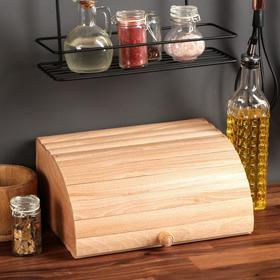 """Хлебница деревянная """"Ретро"""", 29 см, массив бука"""