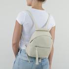 Рюкзак молодёжный, отдел на молнии, 2 наружных кармана, цвет бежевый