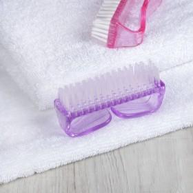 Manicure / pedicure brush, 8 cm, pink.