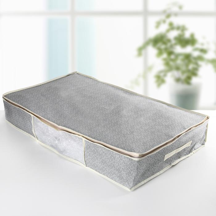 Кофр для хранения вещей «Европа», 80×45×15 см, цвет серый