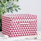 Короб для хранения с крышкой «Ромбы», 37×25×25 см, цвет красный - фото 308332039