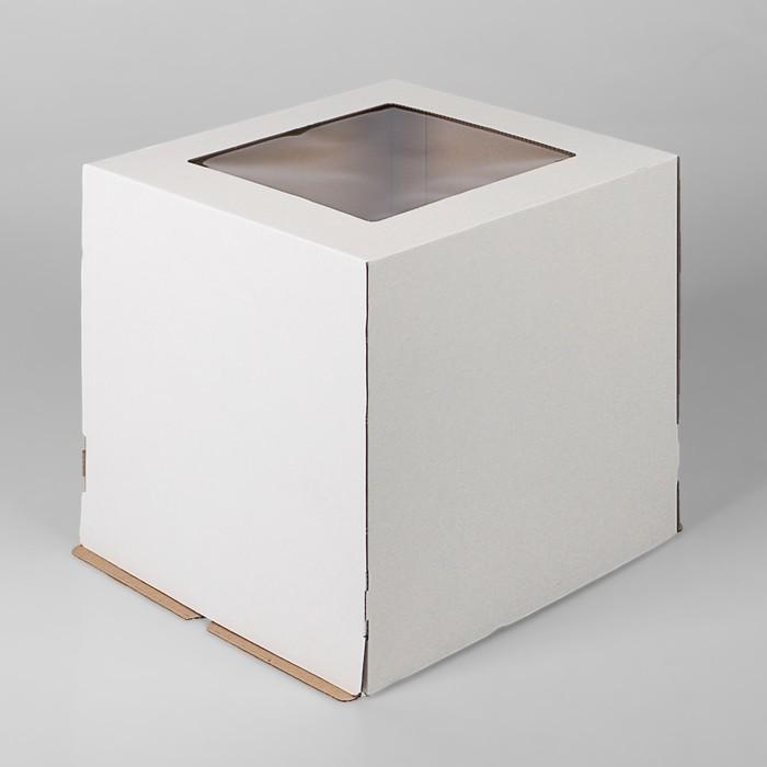 Кондитерская упаковка с окном, 30 х 30 х 30 см