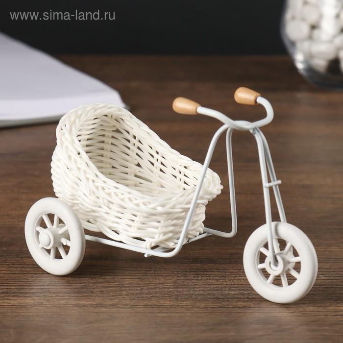 """Корзинка декоративная """"Велосипед с коляской"""""""