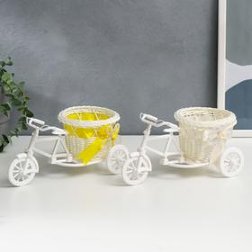 "Basket decorative ""Bicycle with basket-heart"" medium"