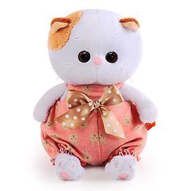 Мягкая игрушка «Кошечка Ли-Ли baby» в песочнике с бантом, 20 см,