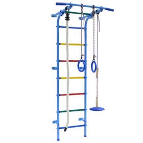 Детский спортивный комплекс Start mini, 600 × 470 × 1800 мм, цвет голубой/радуга