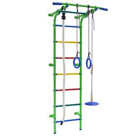 Детский спортивный комплекс Start mini, 600 × 470 × 1800 мм, цвет салатовый/радуга