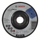 Круг шлифовальный Bosch 2608600223, по металлу, вогнутый, 125х22.2 мм, 6 мм