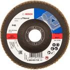 Лепестковый шлифкруг Bosch 2608603716, по металлу, 125х22.2 мм, зернистость 40