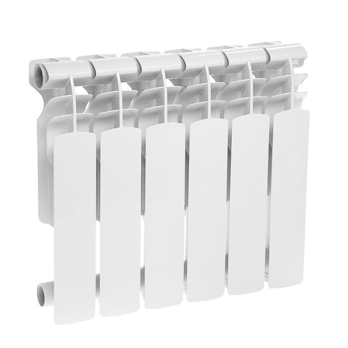 Радиатор алюминиевый Oasis, 350 х 96 мм, 6 секций