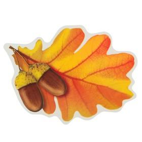 Украшение на скотче 'Листья дуба' упаковка европодвес, жёлуди, 9 х 12 см Ош