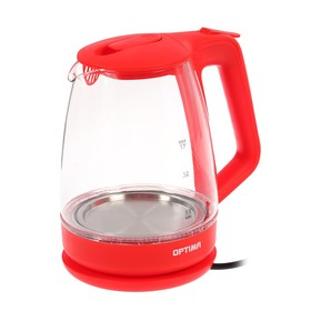 Чайник электрический OPTIMA EK-1718G, 2200 Вт, 1.7 л, красный