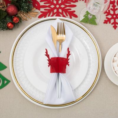 """Ring for napkins """"Christmas deer"""" 5 cm, 100% p/e, felt"""