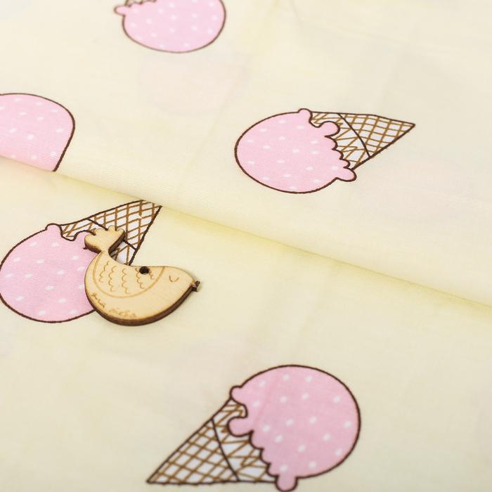 Ткань для пэчворка 100% хлопок «Клубничное мороженое», 50 × 90 см