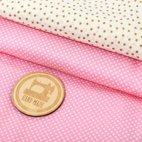 Набор ткани для пэчворка «Радость», 2 лоскута 75 × 65 см