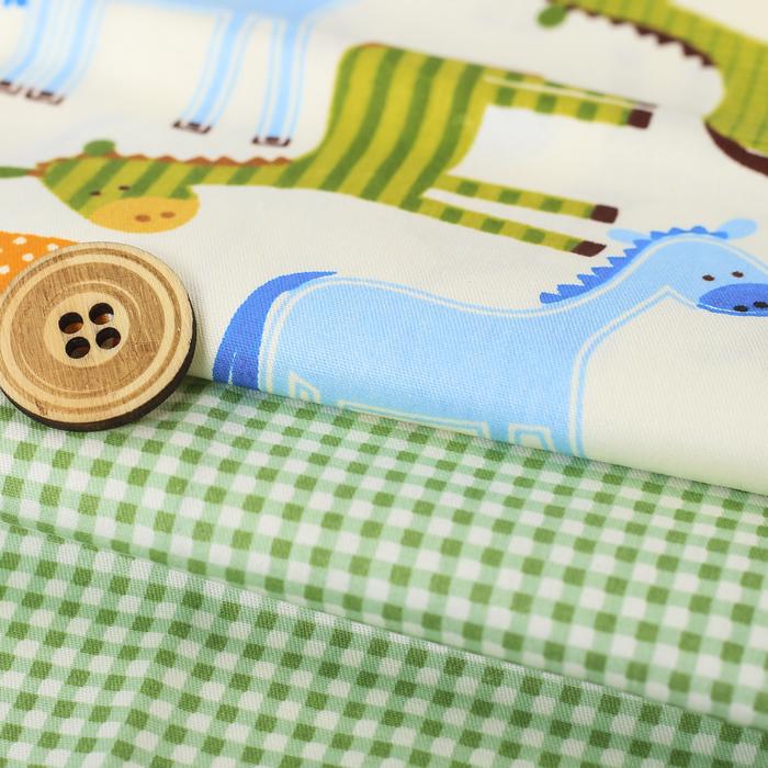 Набор ткани для пэчворка «Детство», 2 лоскута 30 × 42 см