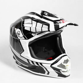 Helmet HIZER B6195-1, XL, white, black