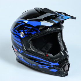 Шлем HIZER B6196-2, размер L, чёрный, синий