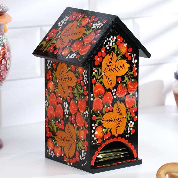 Чайный домик, 11×12×20 см, хохлома