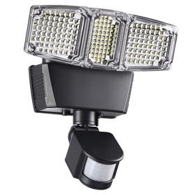 Светильник светодиодный SOLAR, 12 Вт, 6000К, LED, цвет чёрный