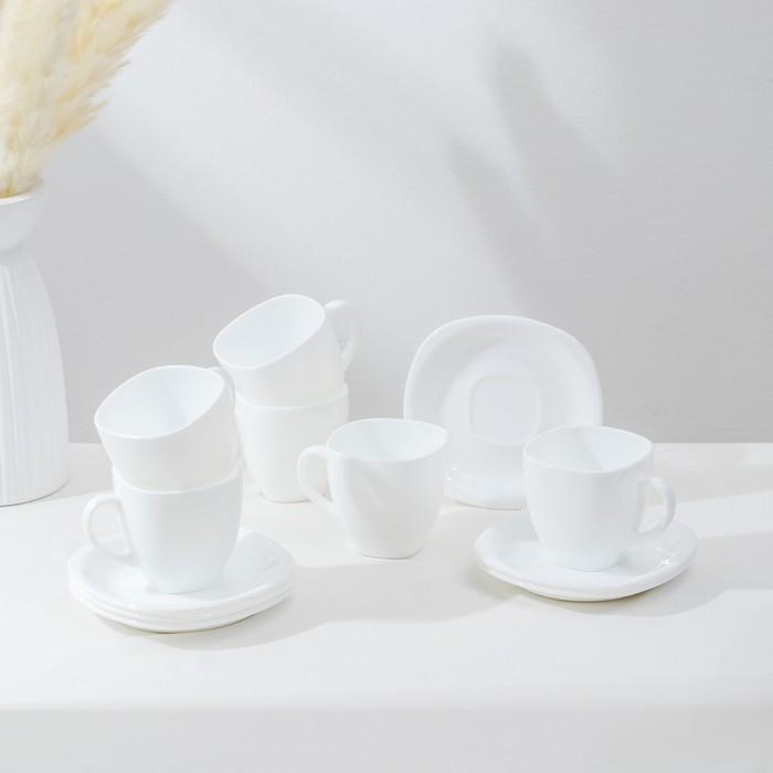 Сервиз чайный на 6 персон 220 мл Carine
