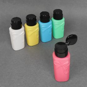 Баночка с дозатором для жидкостей «Бантик», 200 мл, цвет МИКС