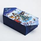 Сборная коробка-конфета «Новогодняя деревушка», 9,3 × 14,6 × 5,3 см