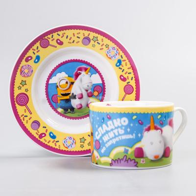 "Set mug and saucer ""Sweet life"" Despicable me, 200 ml"