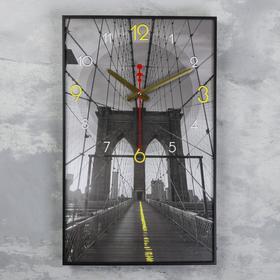"""Часы настенные, серия: Город, """"Мост в небеса"""", 57х35х4"""