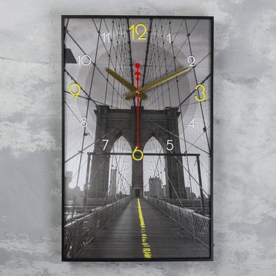 """Часы настенные, серия: Город, """"Мост в небеса"""", 37х61 см"""