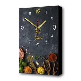 "Часы настенные, серия: Кухня, ""Специи"", 57х35х4 см"