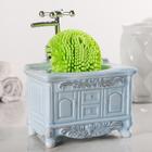 Дозатор для моющего средства с подставкой для губки «Будуар», цвет МИКС