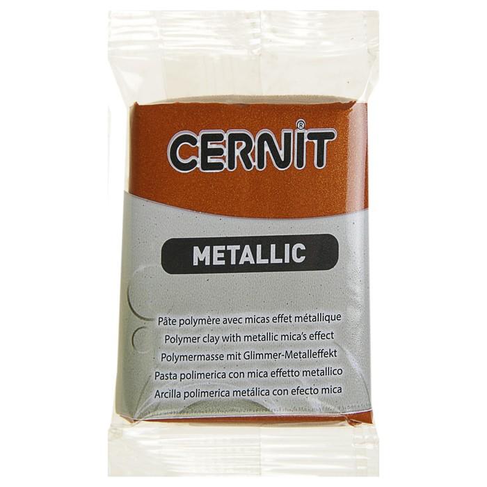 Полимерная глина запекаемая, Cernit Metallic с металлическим эффeктом, 56 г, бронза, №058