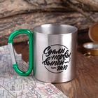 "Mug with carabiner ""lost his nerve"", 200 ml"