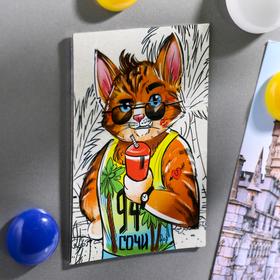 """Magnet bilateral """"Sochi"""" (cool cat), 5.5 x 8 cm"""