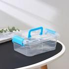 Контейнер для хранения, крышка с ручкой на защёлке 20×15×7,5 см, цвет МИКС