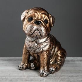 Статуэтка 'Собака 'Мопс' бронзовый цвет, 30 см Ош