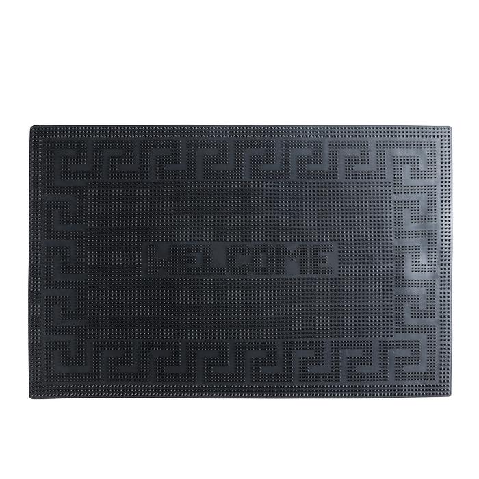 """Коврик резиновый 39×60 см """"Welcome"""", цвет чёрный"""